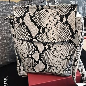 White snake pattern Back pack